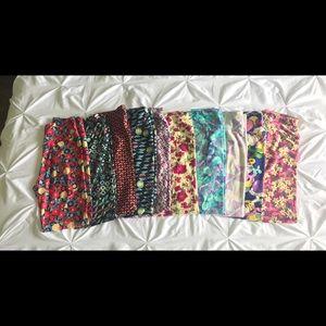 Lot of 10 pair one size LulaRoe leggings